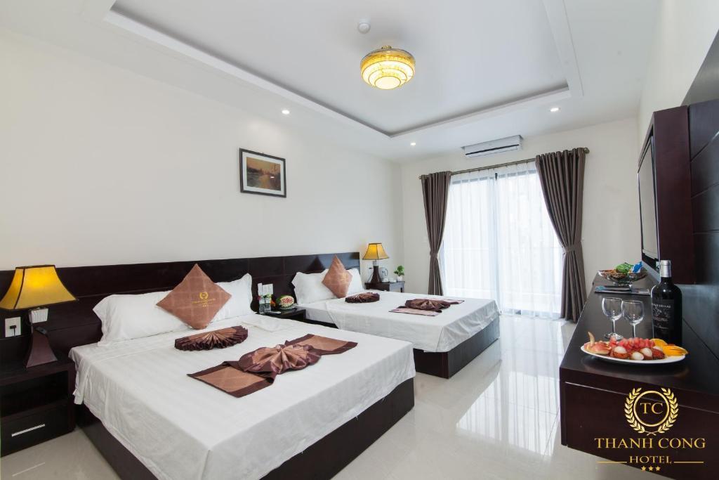 Phòng Deluxe Giường Đôi Với Ban Công và Tầm Nhìn Ra Biển