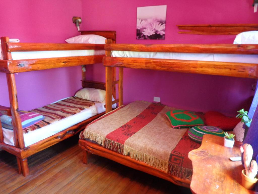 Una cama o camas cuchetas en una habitación  de Wood House Hostel