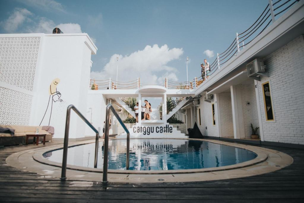 The swimming pool at or near Canggu Castle
