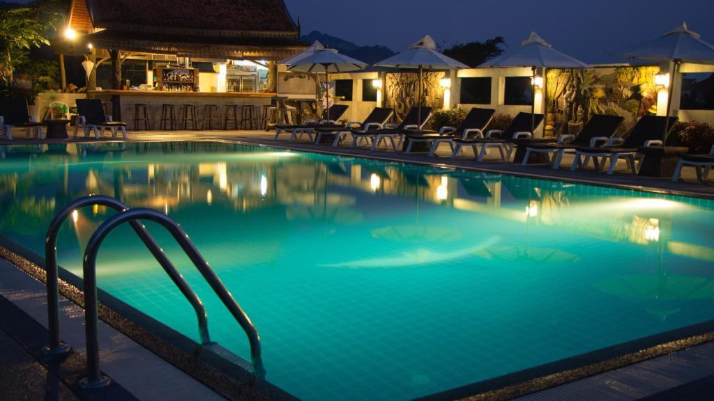 The swimming pool at or near Baan Sawan Resort