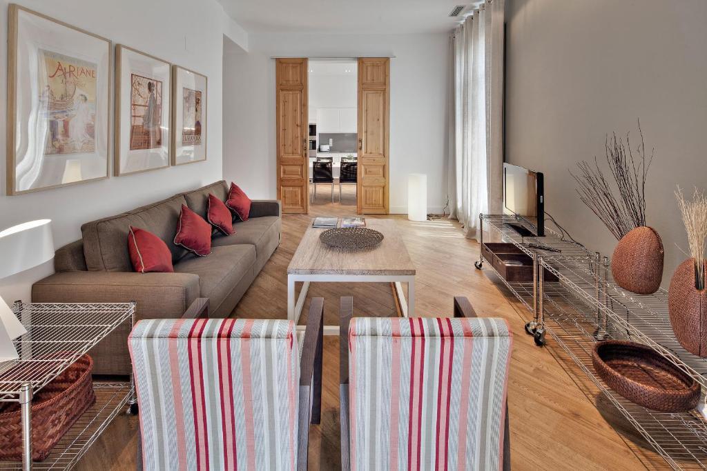 Prostor za sedenje u objektu Habitat Apartments Rambla Deluxe