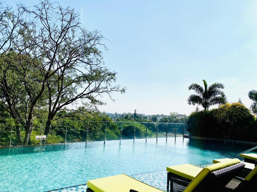 The swimming pool at or near WelcomHotel Bengaluru