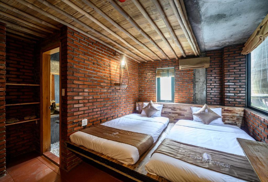 Phòng Tiêu Chuẩn 2 Giường Đơn Nhìn Ra Khu Vườn