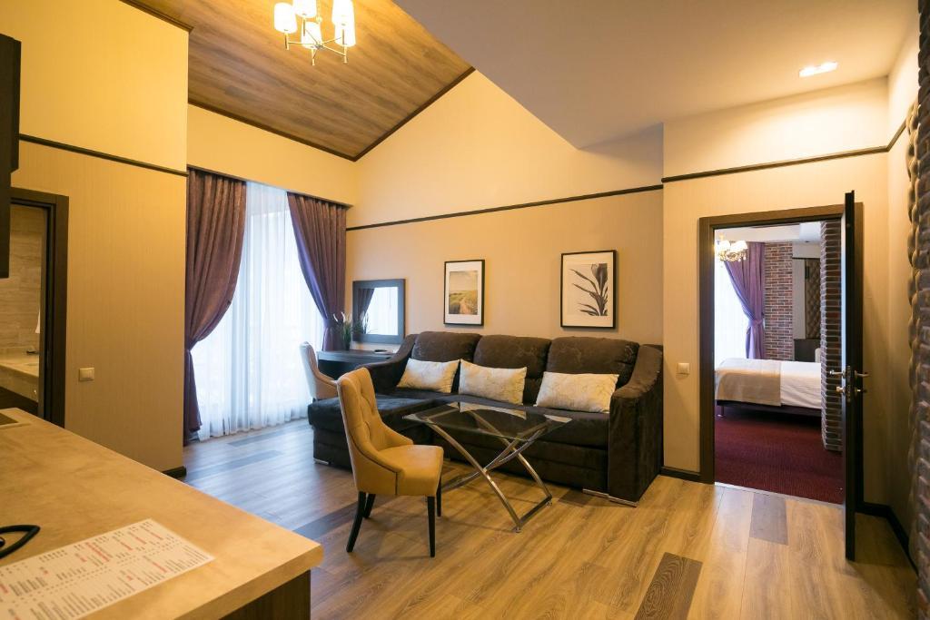 Гостиная зона в VERTEX hotel