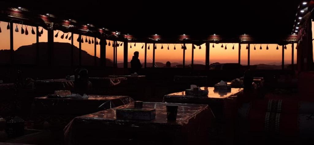 A restaurant or other place to eat at Bedouin Desert camp