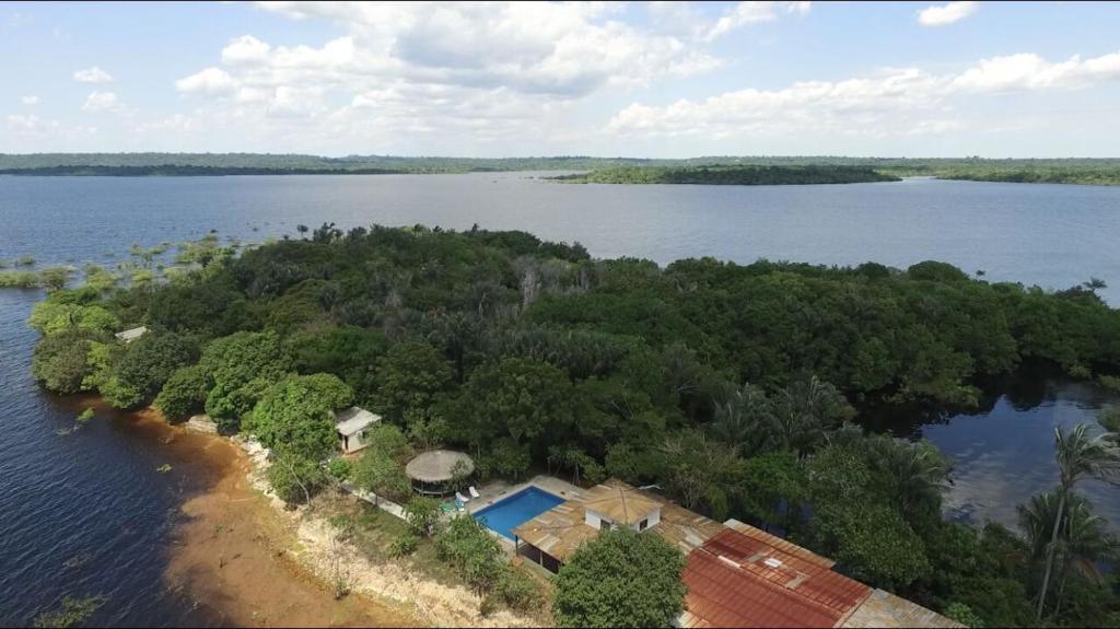 A bird's-eye view of Anaconda Amazon Island