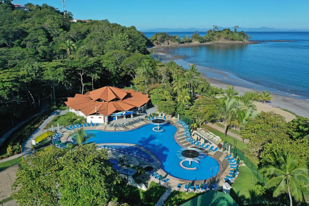 A bird's-eye view of Hotel Punta Leona