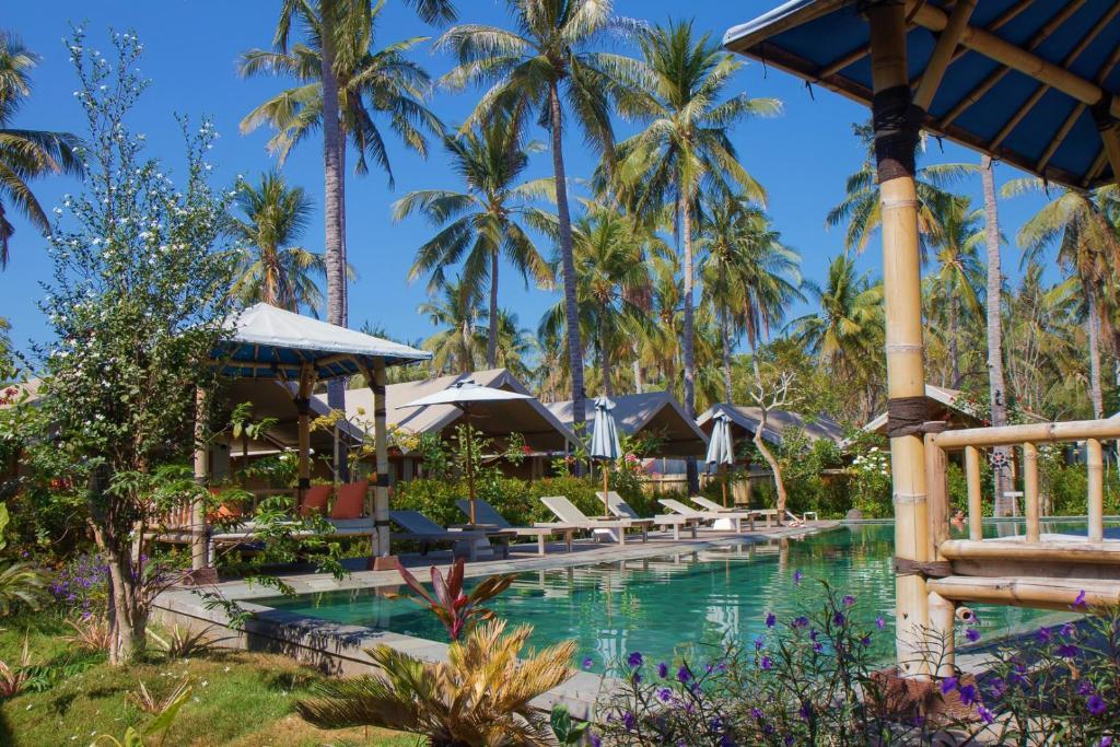 The swimming pool at or close to Gili Tenda
