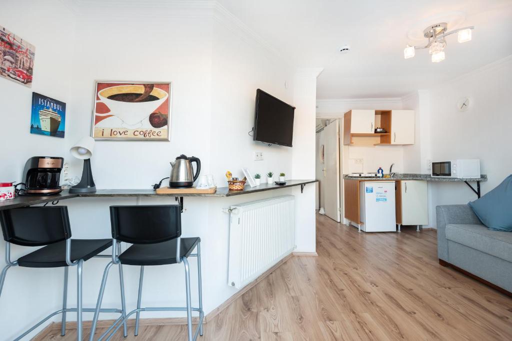 Кухня или мини-кухня в 3 Floor Oldcity