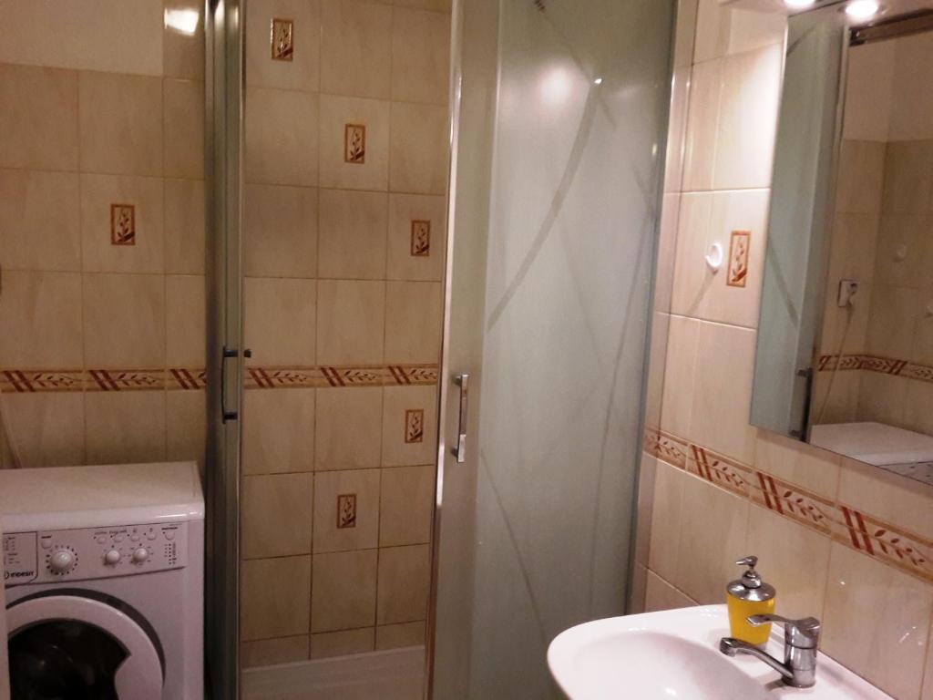 Kúpeľňa v ubytovaní Apartmán BYSTRICA