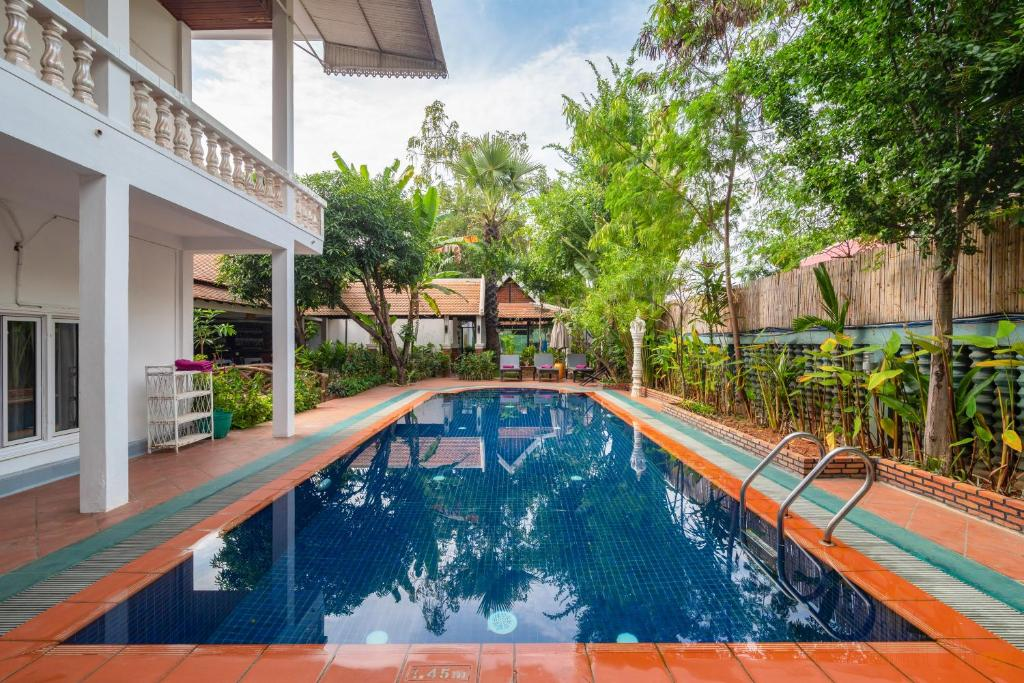 The swimming pool at or near Lavender Angkor Boutique