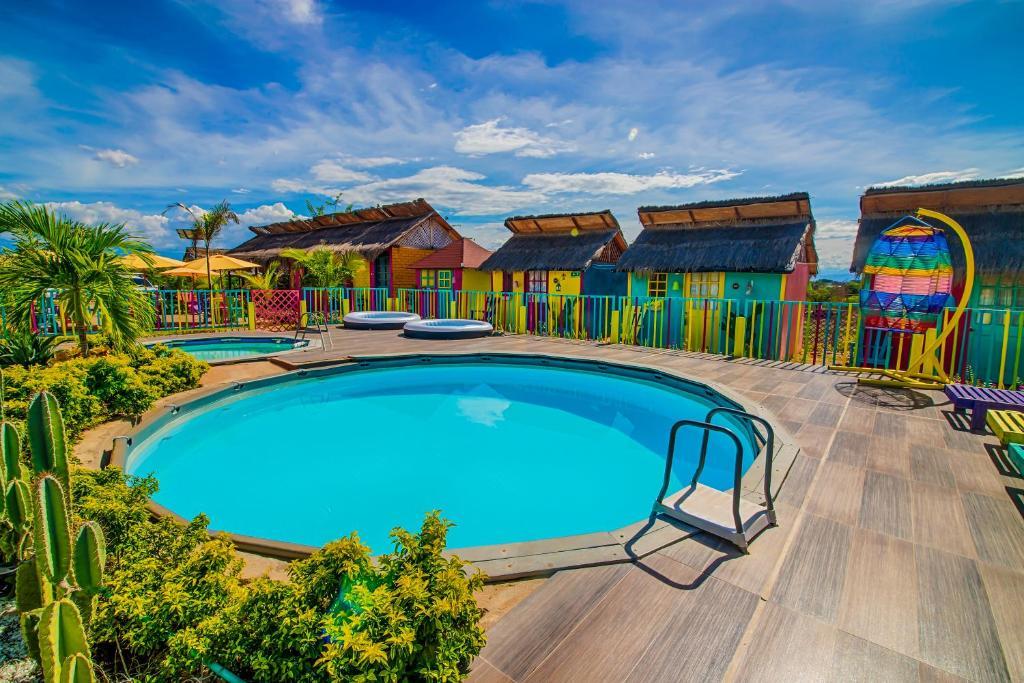 The swimming pool at or near Dunas Tatacoa