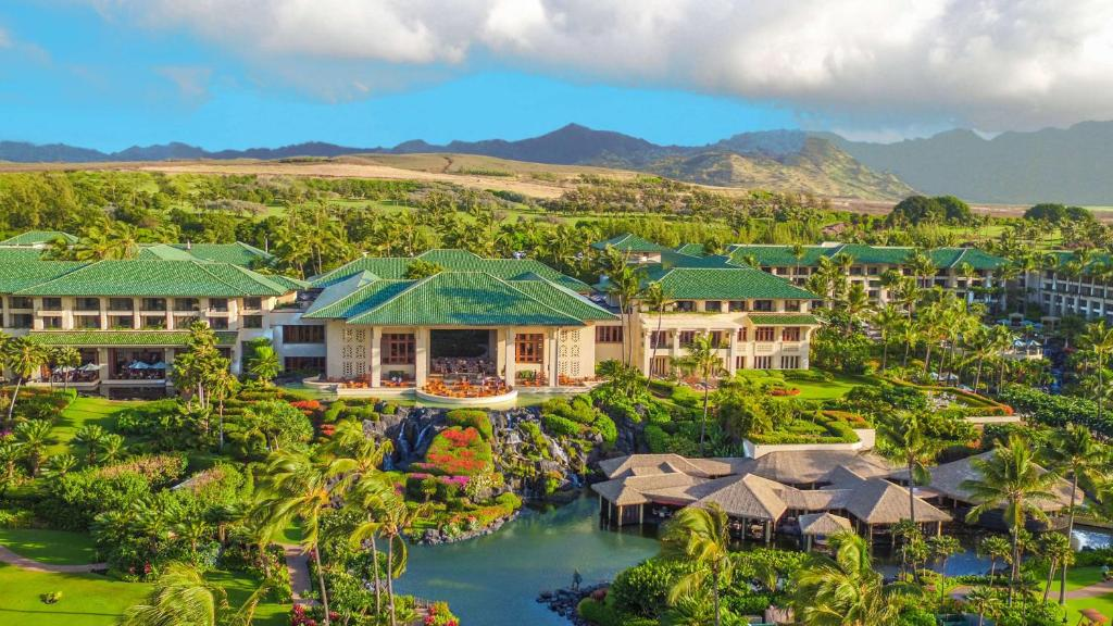 A bird's-eye view of Grand Hyatt Kauai Resort & Spa