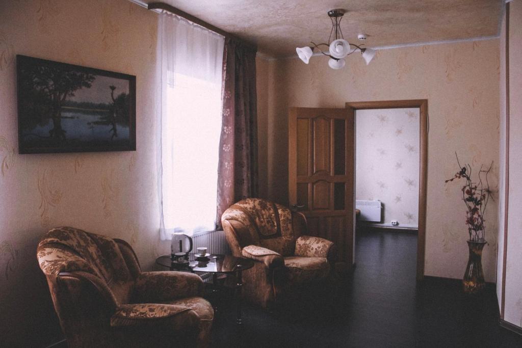 A seating area at Lesnaya Gavan Hotel