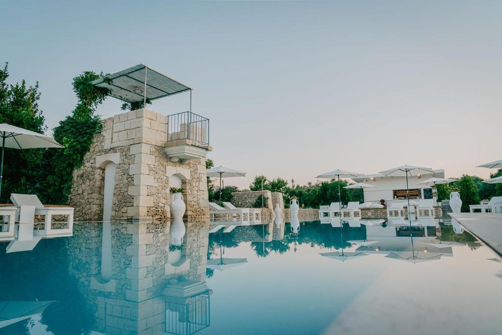 The swimming pool at or near Masseria Muntibianchi AgriResort