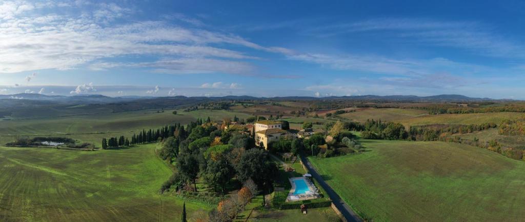 Vista aerea di Villa Sabolini