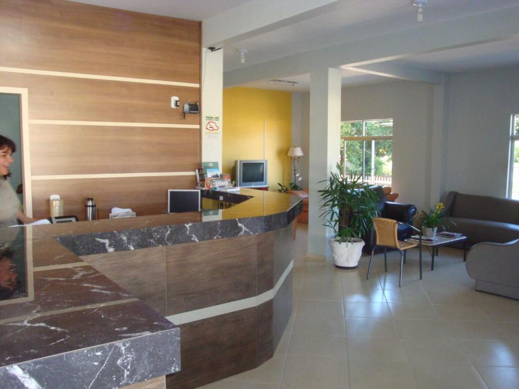 The lobby or reception area at Hotel Icaro