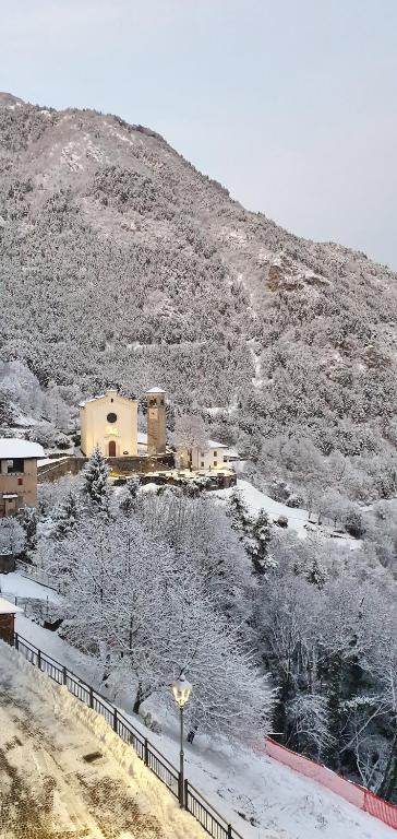 Hosteria dei Castellani durante l'inverno