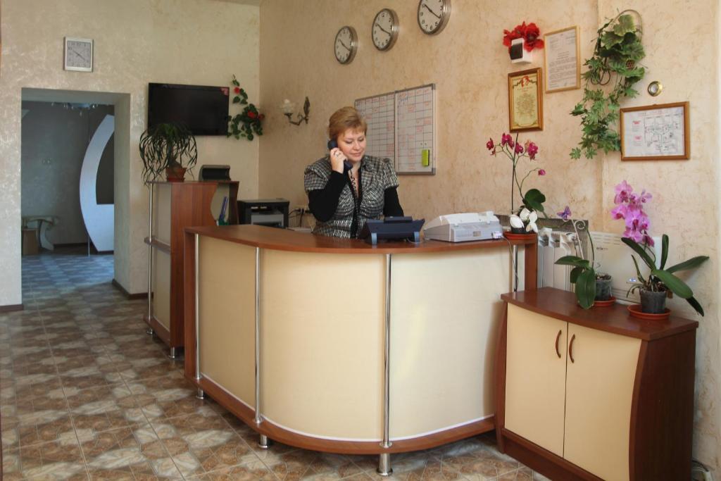 Лобби или стойка регистрации в Отель Уют