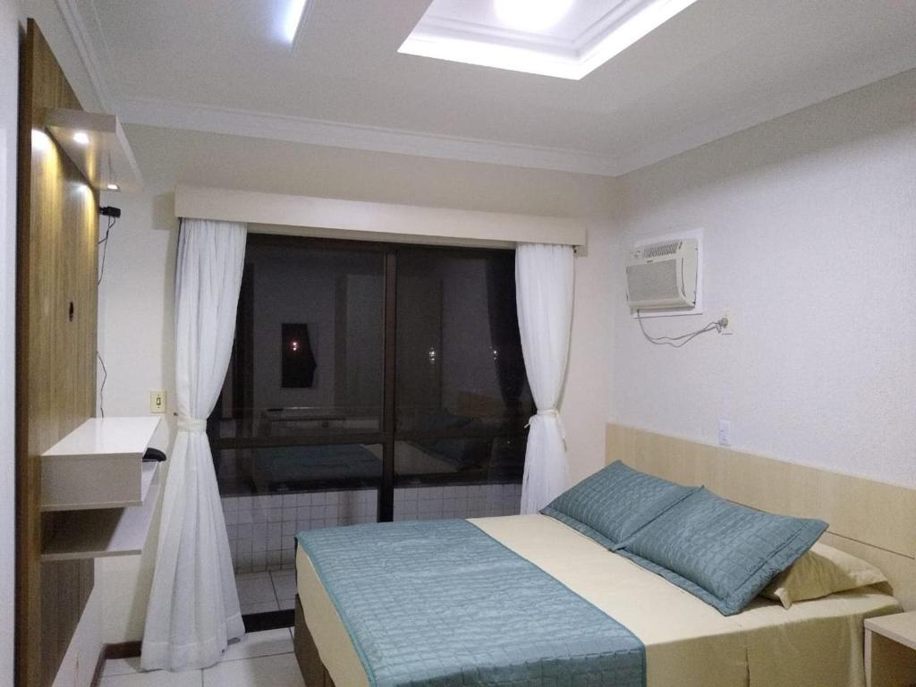 Cama o camas de una habitación en Flat Bellmare