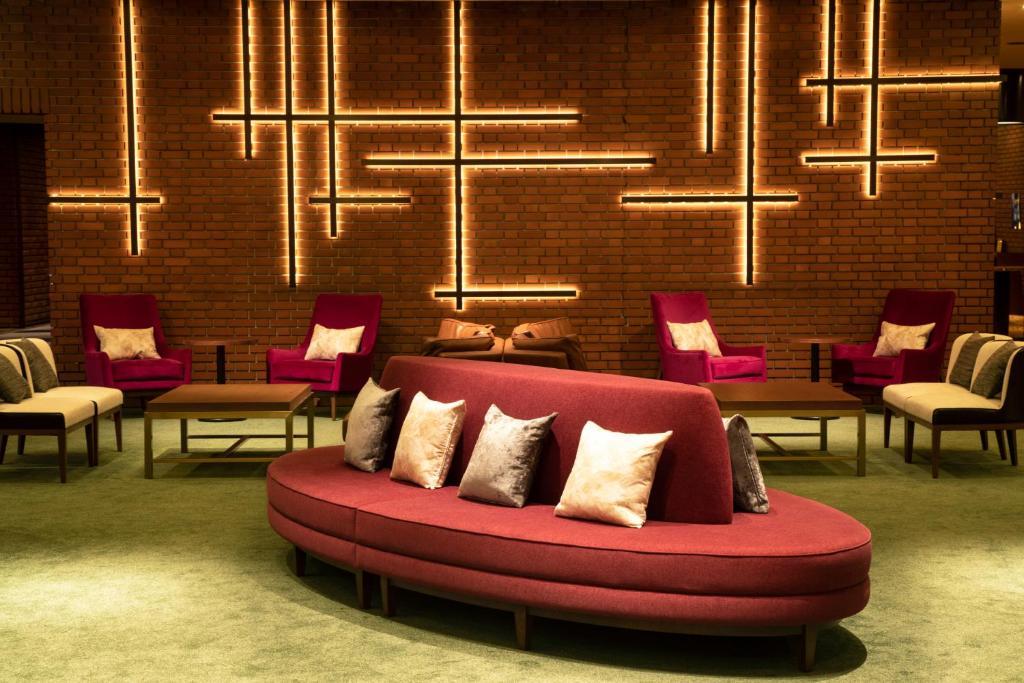 The lounge or bar area at Art Hotel Morioka