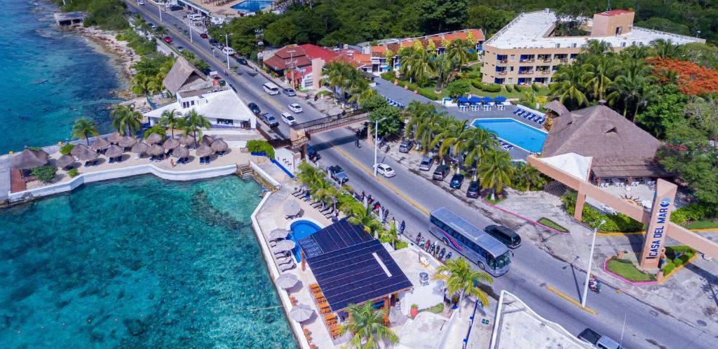 Casa del Mar Cozumel Hotel & Dive Resort a vista de pájaro