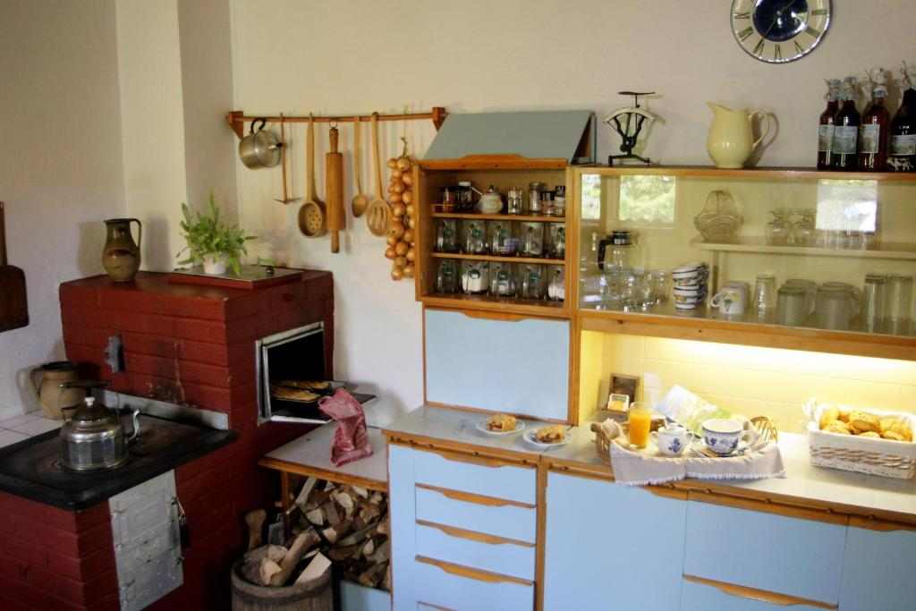 Een keuken of kitchenette bij Sedliacky Dvor
