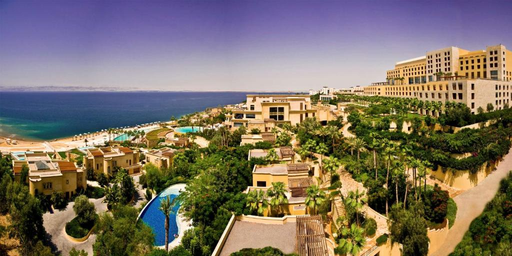 A bird's-eye view of Kempinski Hotel Ishtar Dead Sea
