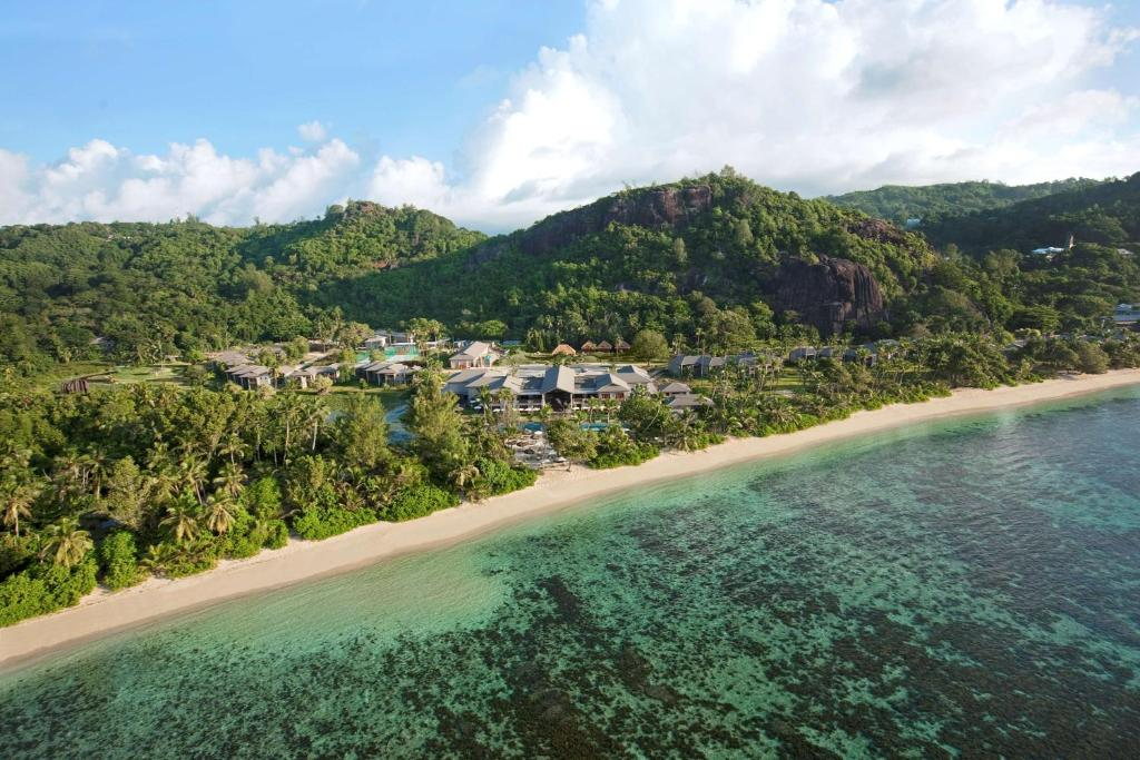 A bird's-eye view of Kempinski Seychelles Resort