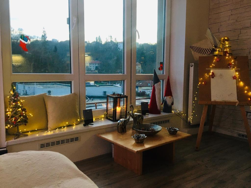 Posedenie v ubytovaní Luxury apartments in Prague