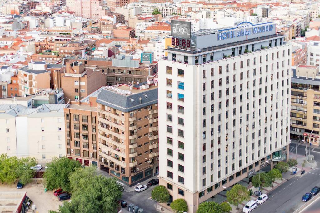 Blick auf Abba Madrid aus der Vogelperspektive