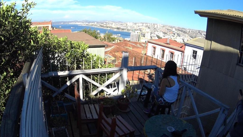 Balcon ou terrasse dans l'établissement Acuarela Hostel