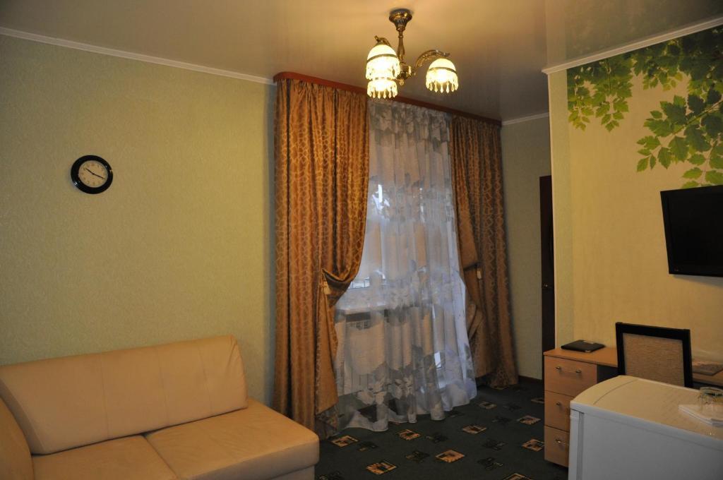 Гостиная зона в Отель Уют