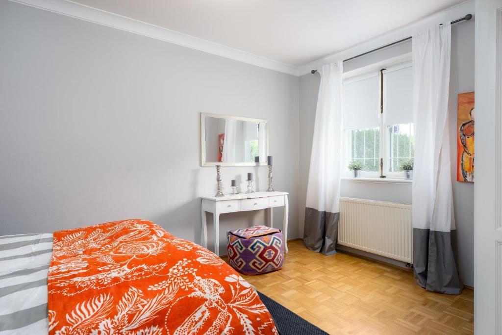 Ein Bett oder Betten in einem Zimmer der Unterkunft Villa1862