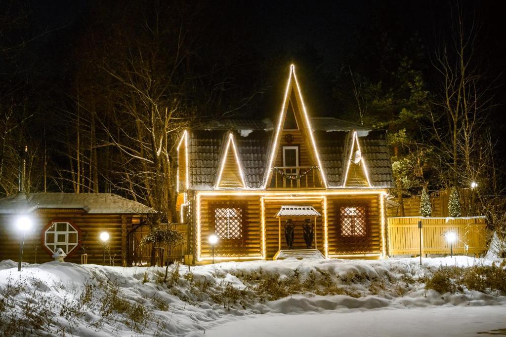 Отель Раздолье зимой