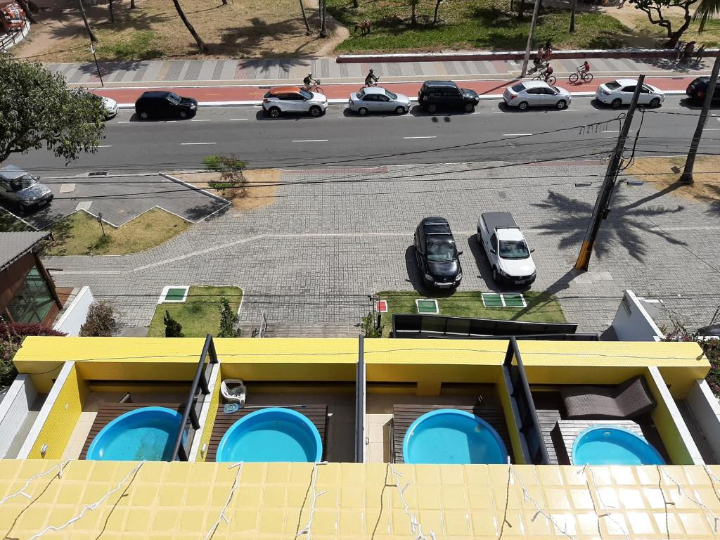 A view of the pool at Flat Mar do Cabo Branco Residence or nearby