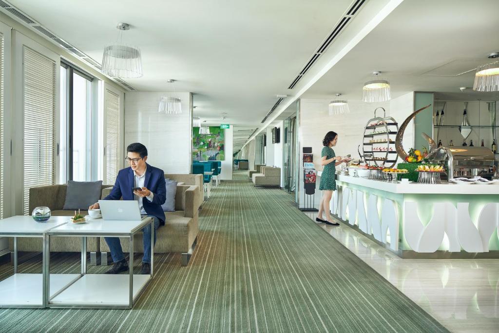 Phòng Executive 2 Giường Đơn Với Quyền Sử Dụng Premier Lounge