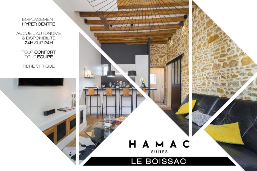 The floor plan of HAMAC Suites Lyon Boissac