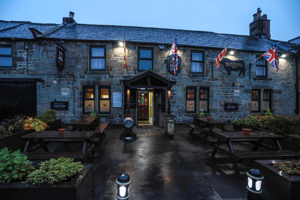The Black Bull Hotel in Wark, Northumberland, England