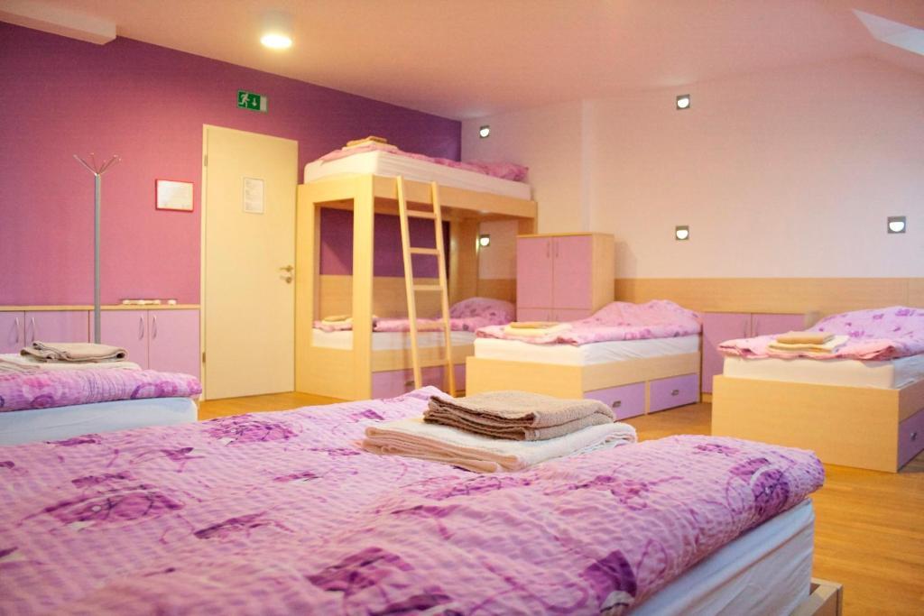 Postelja oz. postelje v sobi nastanitve Youth Hostel Krško