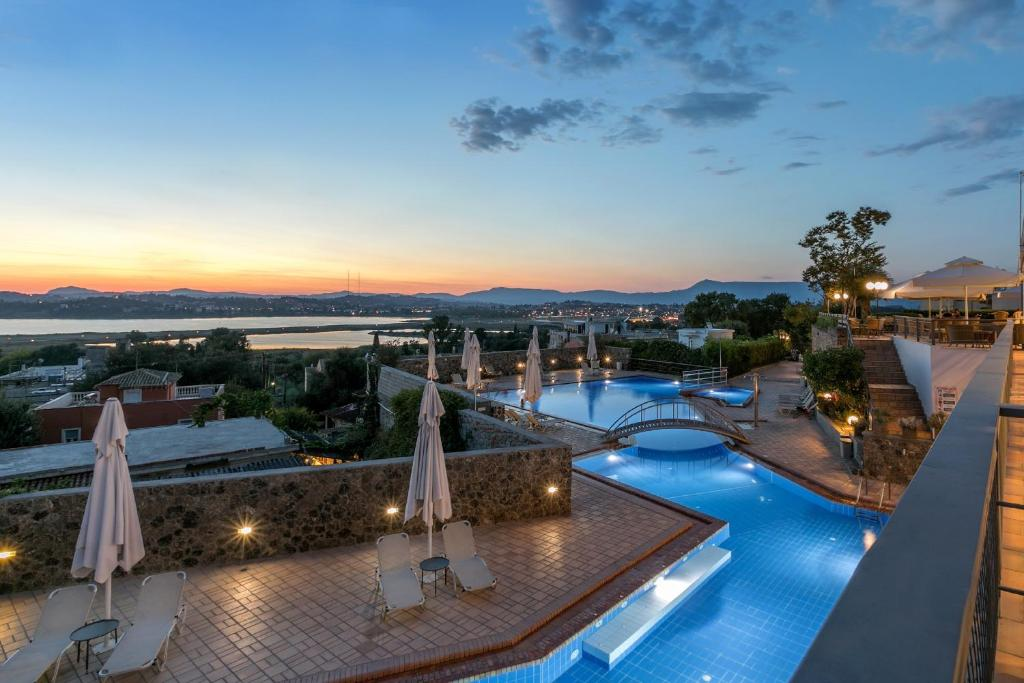 A view of the pool at Divani Corfu Palace or nearby