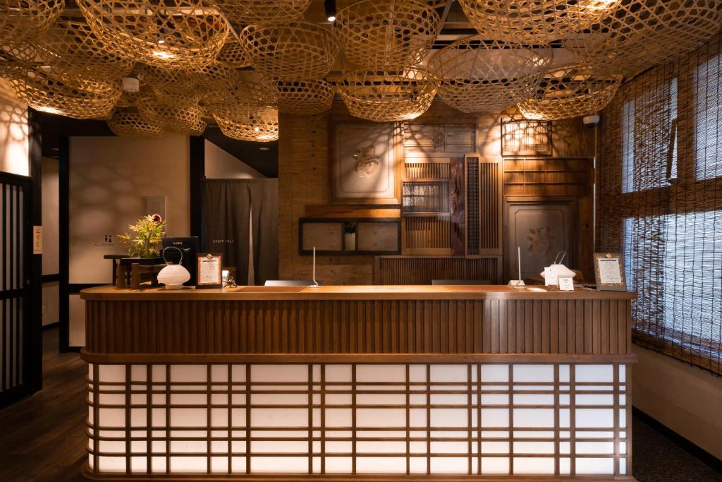 The lobby or reception area at Onsen Guest House Tsutaya