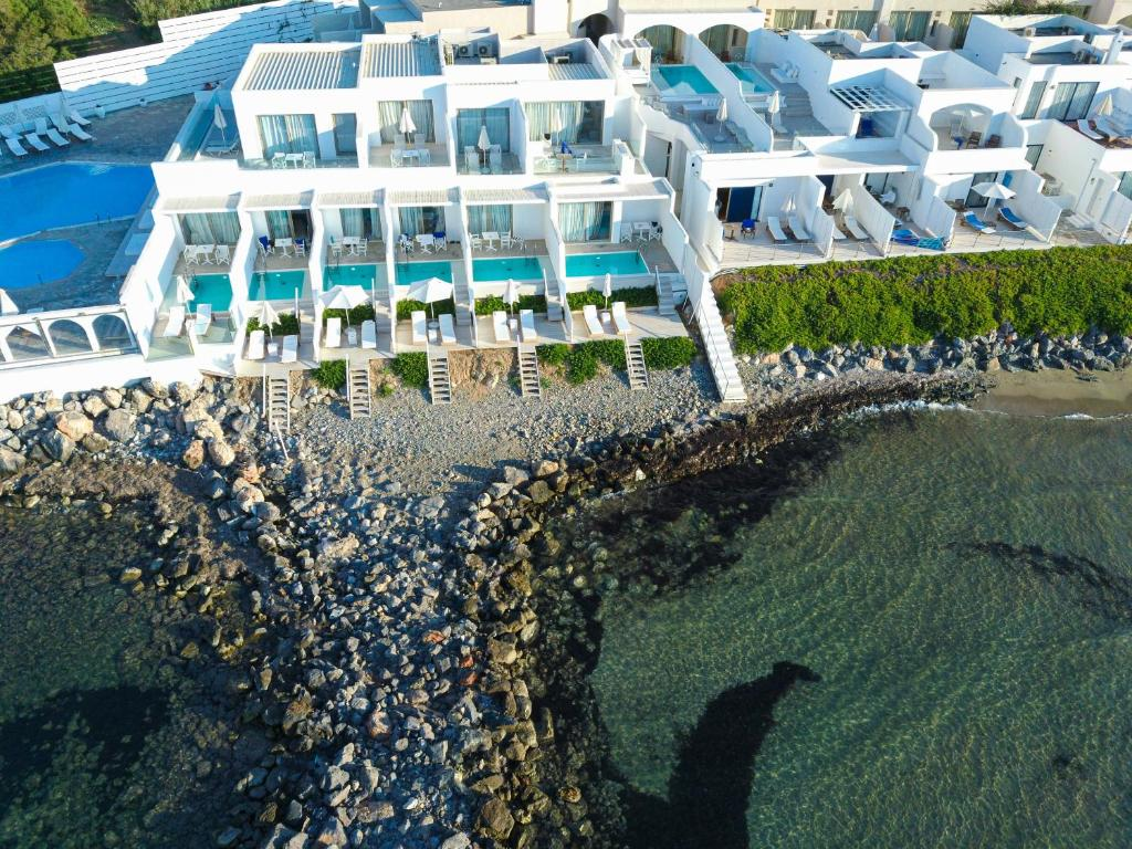 A bird's-eye view of Knossos Beach Bungalows Suites Resort & Spa