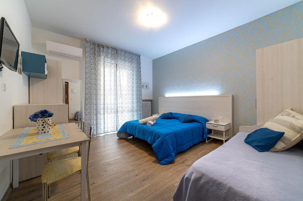 Letto o letti in una camera di B&B Villa Montreux