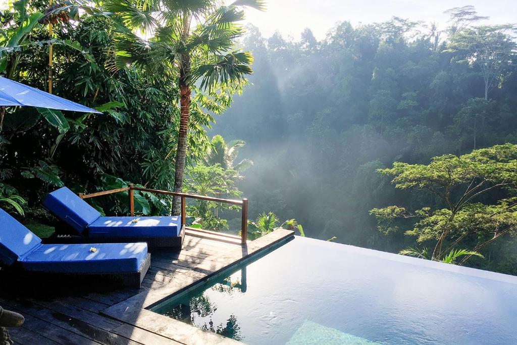 The swimming pool at or near Ubud Valley Boutique Resort