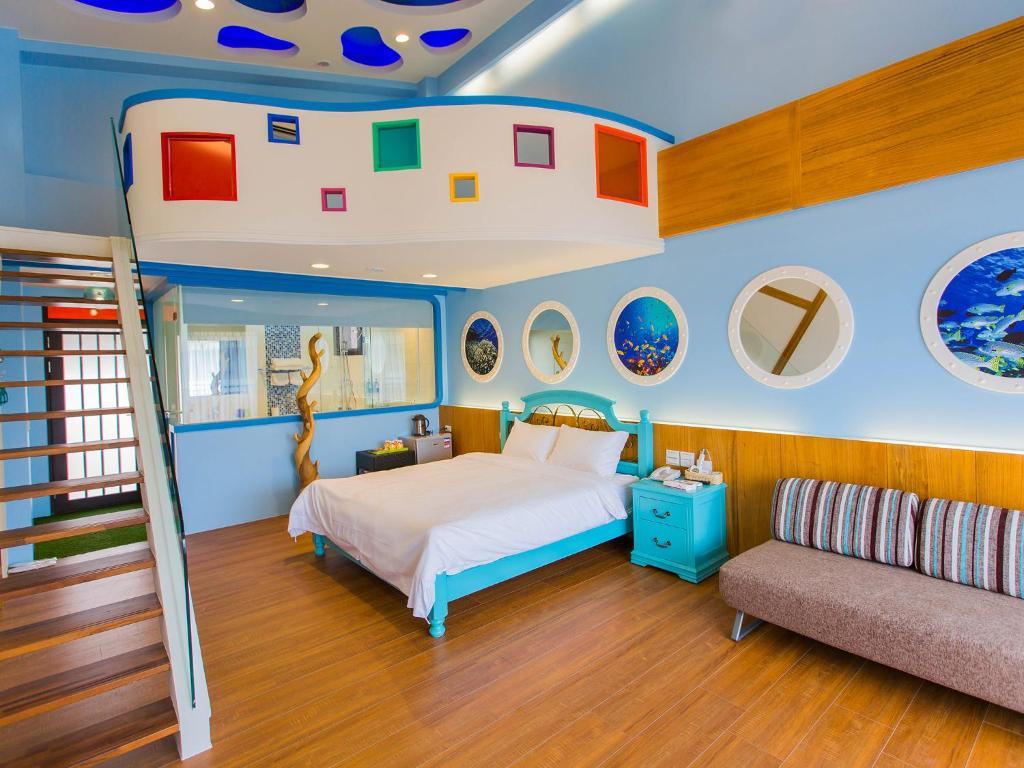 伯利恆之星民宿房間的床