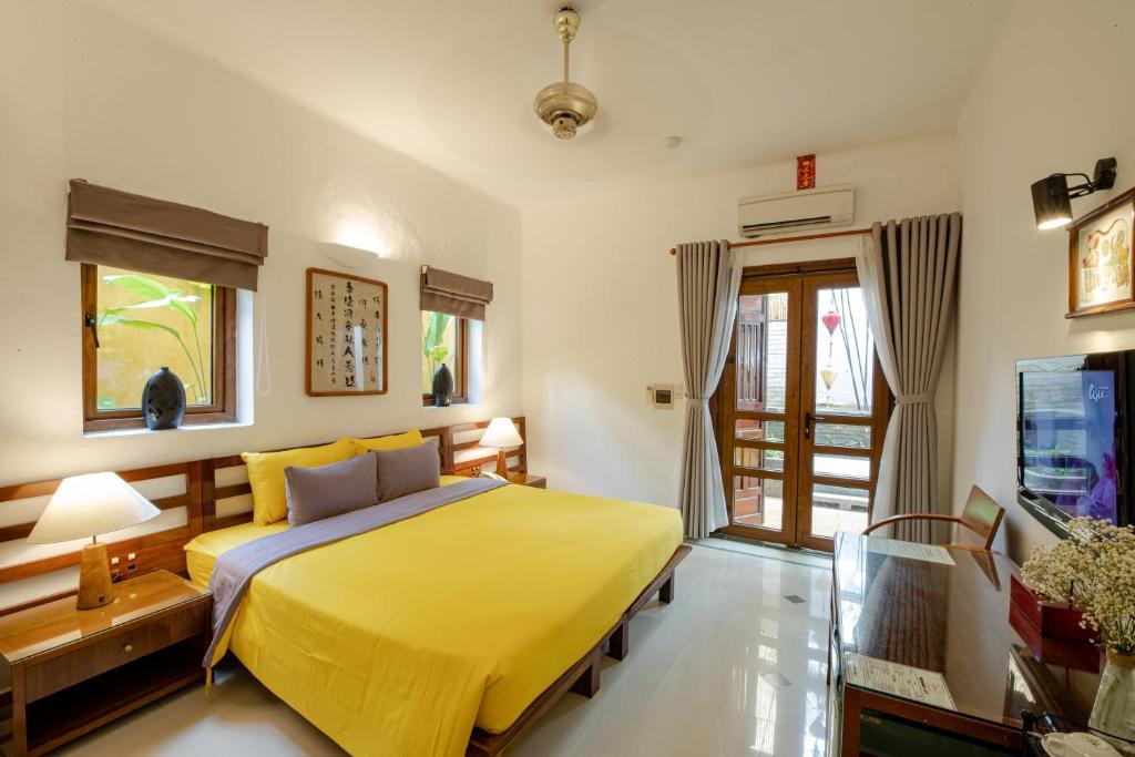 Phòng Deluxe Giường Đôi/2 Giường Đơn Với Ban Công Và Tầm Nhìn Ra Vườn