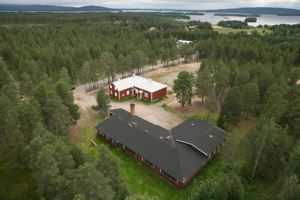 A bird's-eye view of Soppela retreat at the Arctic Circle