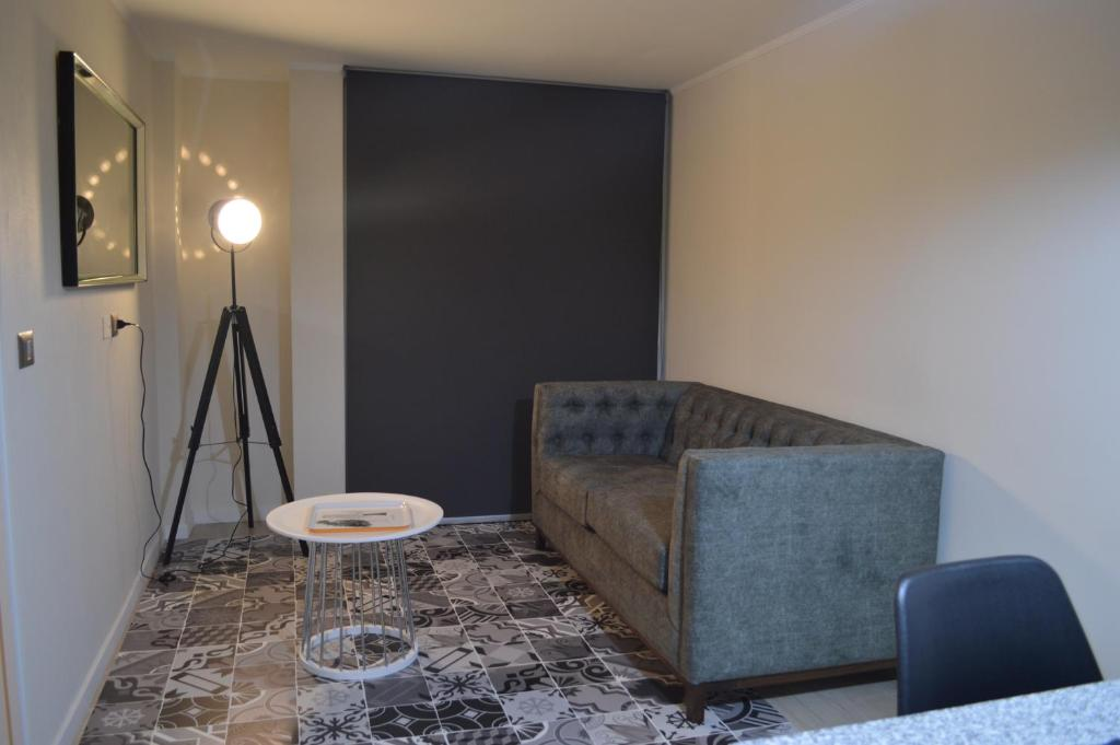 Zona de estar de Art Apartment Chile