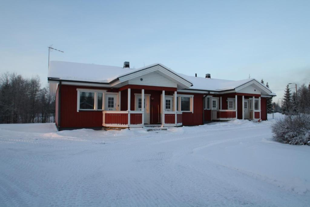 Forenom Hostel Kuusamo during the winter